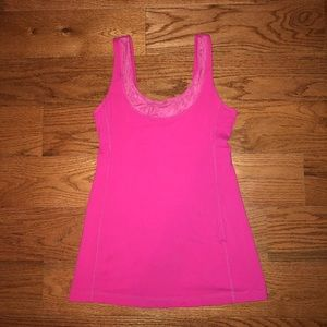 lululemon Hot Pink Tank Top With Mesh Detail